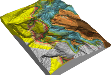 Regional to mine scale geological modelling