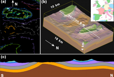 Geological modelling from field data and geological knowledge: Part I. Modelling method coupling 3D potential-field interpolation and geological rules